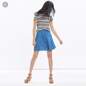 Madewell Piazza Chambray Skirt